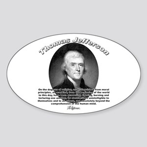 Thomas Jefferson 17 Oval Sticker
