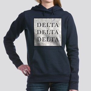 Delta Delta Delta Marble Women's Hooded Sweatshirt