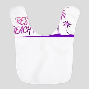 Resting Beach Face Design Polyester Baby Bib
