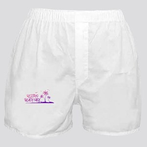 Resting Beach Face Design Boxer Shorts