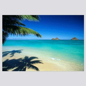 Hawaii, Oahu, Lanikai Beach With Calm Turquoise Wa