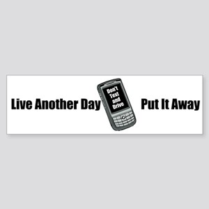 Don't Text And Drive (bumper) Bumper Sticker