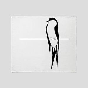 Bird On Wire Throw Blanket
