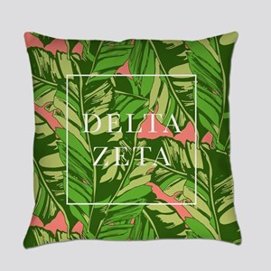 Delta Zeta Banana Leaves Everyday Pillow