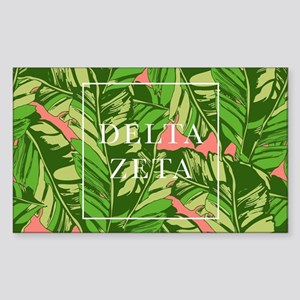 Delta Zeta Banana Leaves Sticker (Rectangle)