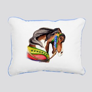 Zalar Carousel Horse Rectangular Canvas Pillow
