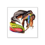 Zalar Carousel Horse Square Sticker 3