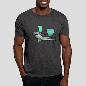 I Love ( Heart ) Sharks  Dark T-Shirt