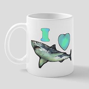 I Love ( Heart ) Sharks  Mug