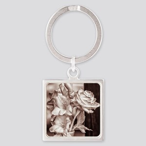 Infrared Bouquet Square Keychain