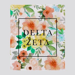 Delta Zeta Floral Throw Blanket