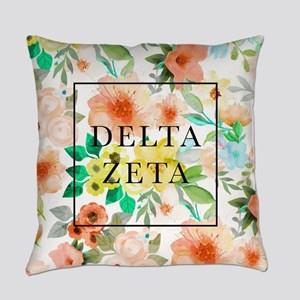 Delta Zeta Floral Everyday Pillow