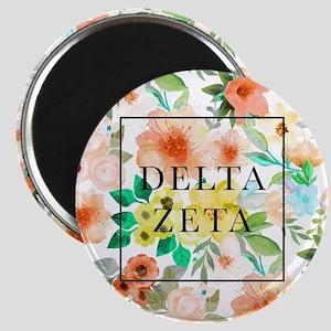 Delta Zeta Floral Magnet