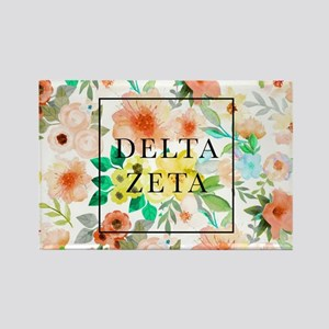 Delta Zeta Floral Rectangle Magnet