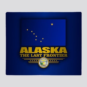 Alaska Flag Throw Blanket