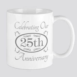 25th Wedding Anniversary Mugs