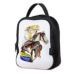 Carousel Horses Neoprene Lunch Bag