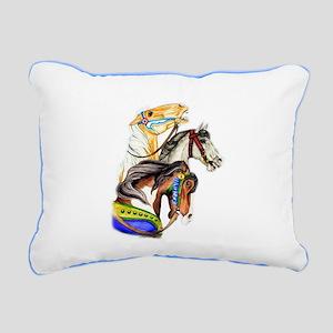 Carousel Horses Rectangular Canvas Pillow