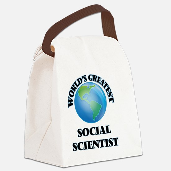 Cute Research scientist Canvas Lunch Bag