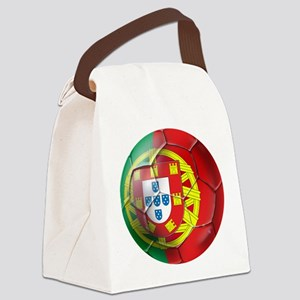 Portuguese Football Soccer Canvas Lunch Bag