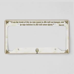Sacraments License Plate Holder