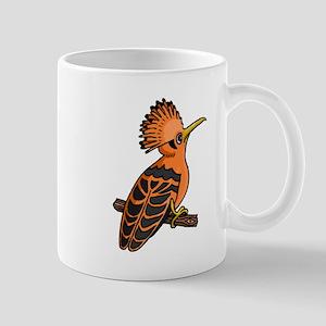 Orange Hoopoe Mugs