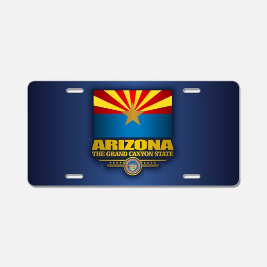 Arizona Flag Aluminum License Plate