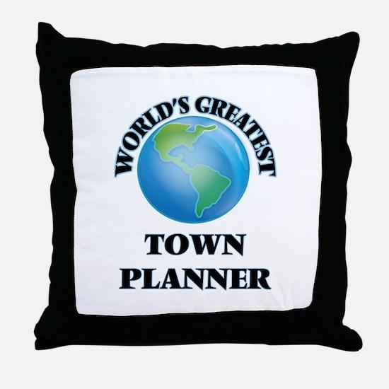 Cute Town Throw Pillow