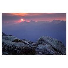 Sunset From Whistler Mountain, Jasper National Par Poster