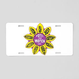 Historic Suffragette Emblem Aluminum License Plate