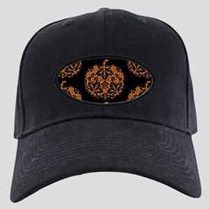 Pumpkin Damask Pattern Baseball Hat