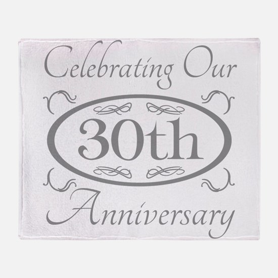 Cute 30 anniversary Throw Blanket
