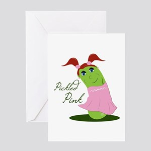 Pickled Pink Greeting Cards