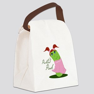 Pickled Pink Canvas Lunch Bag