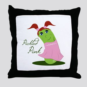 Pickled Pink Throw Pillow