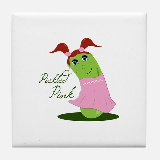 Pickled Pink Tile Coaster