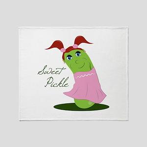 Sweet Pickle Throw Blanket