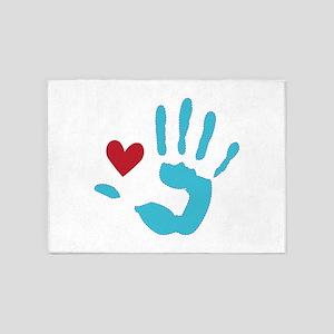 Heart & Hand 5'x7'Area Rug