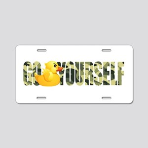 Go Duck Yourself Aluminum License Plate