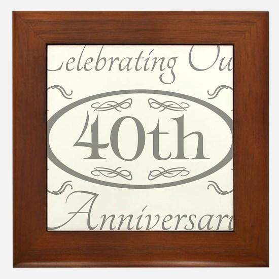 Cool 40 anniversary Framed Tile