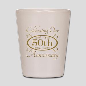 50th Wedding Anniversary Shot Glass