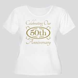 50th Wedding  Women's Plus Size Scoop Neck T-Shirt