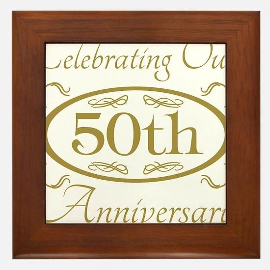 Cute 50th anniversary Framed Tile