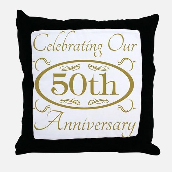 Unique 50th wedding anniversary Throw Pillow