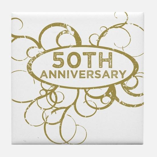 Unique 50th anniversary Tile Coaster