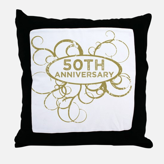 50th wedding anniversary Throw Pillow