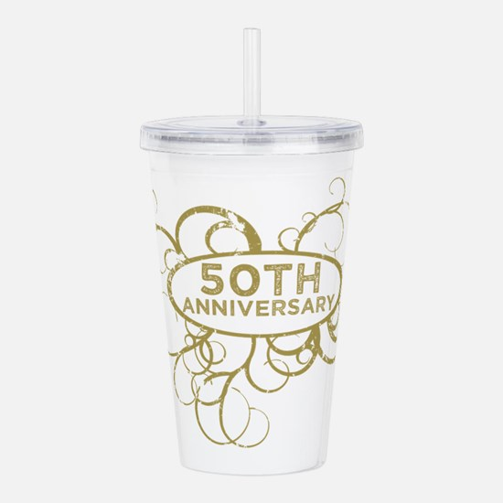Cute 50th anniversary Acrylic Double-wall Tumbler