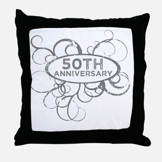 Cool 50th wedding anniversary Throw Pillow