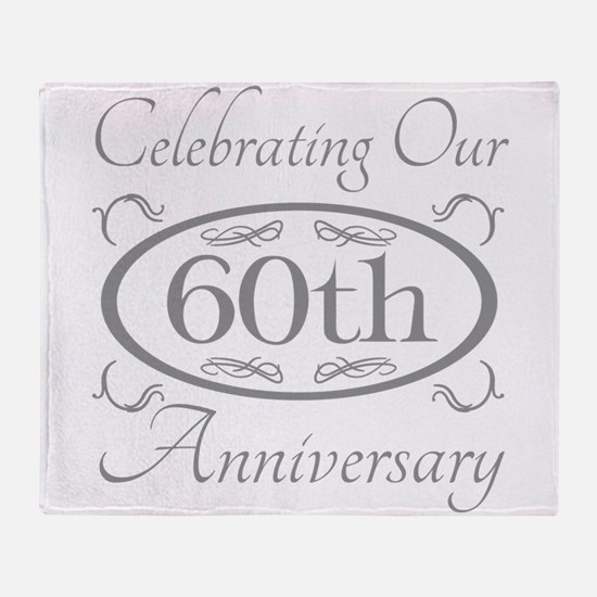 Cute 60th wedding anniversary Throw Blanket