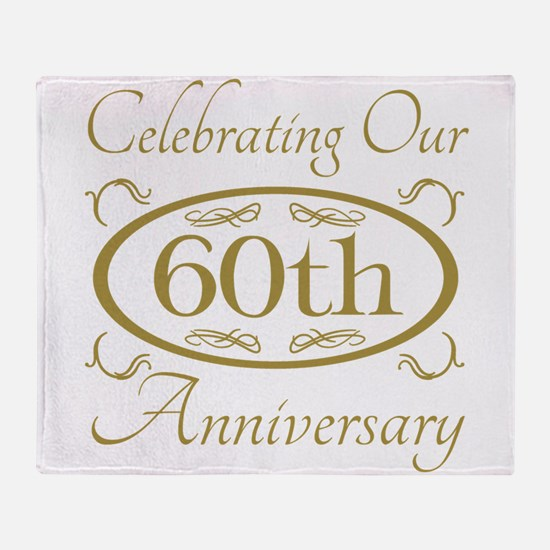 Funny 60th wedding anniversary Throw Blanket